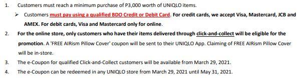 Uniqlo X Bdo Promotion March 2021 Uq Ph Uq Ph Customer Service